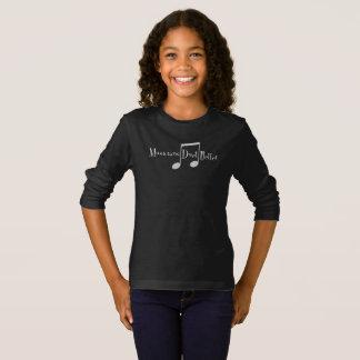Duet (Notes) Girl's Dark Long Sleeve T-Shirt