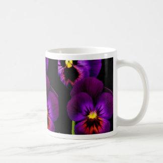 Duet of purple pansies, Washington State  flowers Classic White Coffee Mug