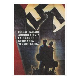 duet Propaganda Poster Postcard