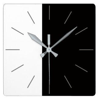 DUET   white plus a color Square Wall Clock