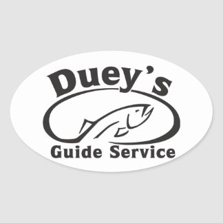 Duey's Guide Service Oval Sticker