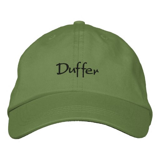 Duffer Embroidered Baseball Cap / Funny Hat