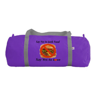 Duffle Gym Bag, Purple with Silver straps Duffle Bag