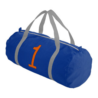 Duffle Sport Bag with Orange Number One