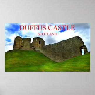 duffus castle scotland posters