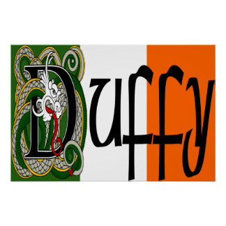 Duffy Celtic Dragon Print