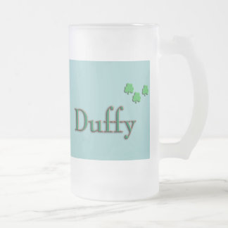 Duffy Family Frosted Glass Beer Mug
