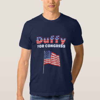 Duffy for Congress Patriotic American Flag T-shirt