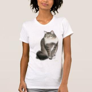 Duffy la camisa del escote redondo del gato de