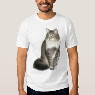 Duffy la camiseta del gato de Coon de Maine Remeras