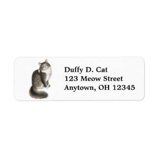 Duffy la etiqueta del gato etiqueta de remitente