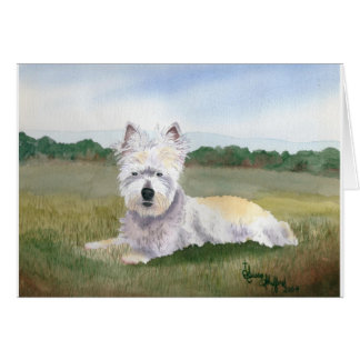 Duffy, tarjeta de nota del oeste de Terrier de la