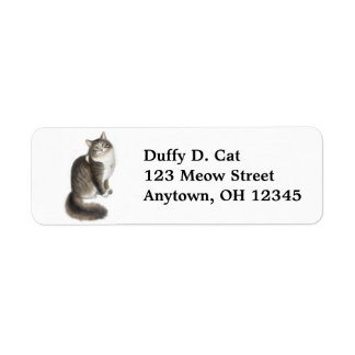 Duffy the Cat Label