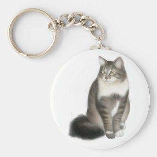 Duffy the Maine Coon Cat Keychain