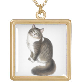 Duffy the Maine Coon Cat Necklace