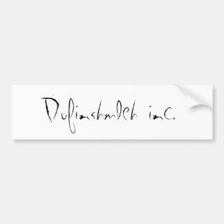 Dufinshmleh inc. etiqueta de parachoque