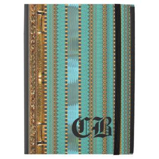 Duflauye Stripe Pattern Old Book Pro Monogram iPad Pro Case