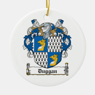 Duggan Family Crest Ceramic Ornament