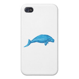 Dugong Drawing Cover For iPhone 4
