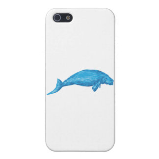 Dugong Drawing Cover For iPhone SE/5/5s