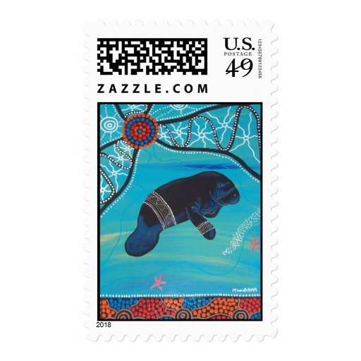 Dugong Dreaming Postage Stamp