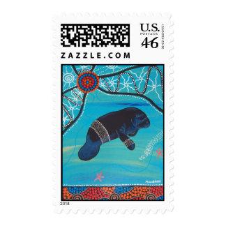 Dugong que soña el sello