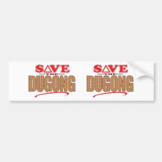 Dugong Save Bumper Sticker