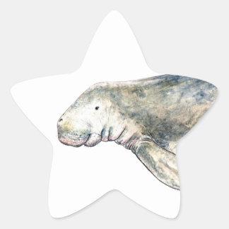 Dugong Star Sticker