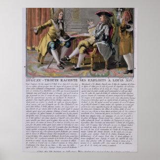 Duguay-Trouin (1673-1736) que cuenta de nuevo su e Póster