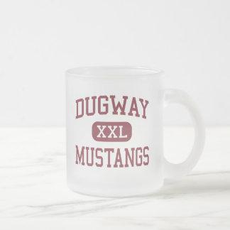 Dugway - Mustangs - High School - Dugway Utah 10 Oz Frosted Glass Coffee Mug