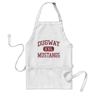Dugway - Mustangs - High School - Dugway Utah Adult Apron
