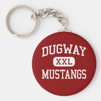 Dugway - Mustangs - High School - Dugway Utah Basic Round Button Keychain