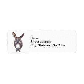 Duh! Donkey Return Address Labels