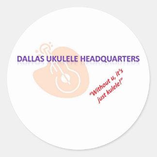 duh logo art classic round sticker