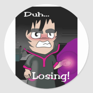 Duh Losing Warlock (1) Classic Round Sticker