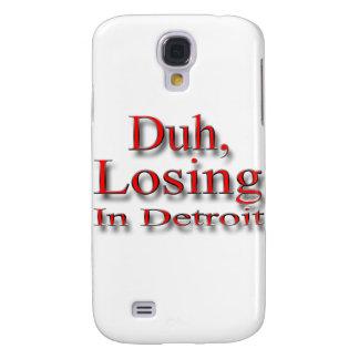 Duh, perdiendo en el rojo de Detroit Carcasa Para Galaxy S4