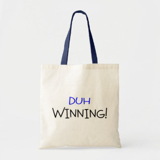 Duh Winning Blue and Black Tote Bag
