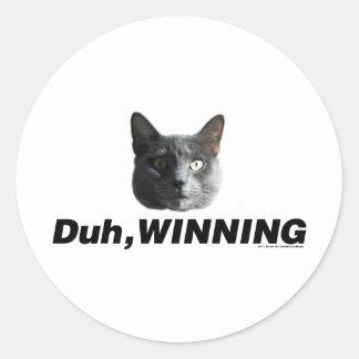 Duh Winning Classic Round Sticker