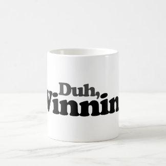 Duh winning classic white coffee mug