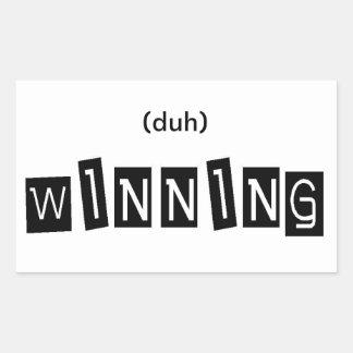 (duh) WINNING Stickers
