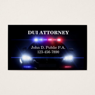 DUI Attorney Business Cards