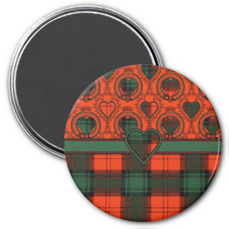 Duilach clan Plaid Scottish kilt tartan 3 Inch Round Magnet