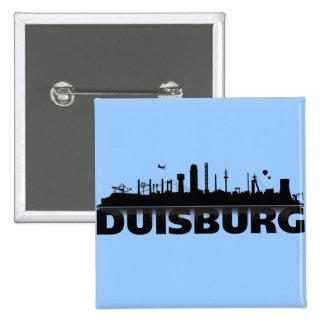 Duisburg city of skyline - button/pin/Anstecker