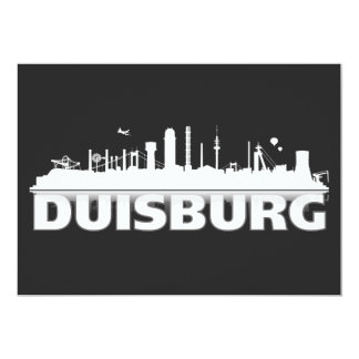 Duisburg ciudad horizonte - postal, Klappkarte/