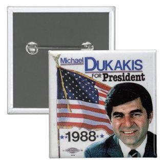 Dukakis - botón pins