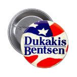 Dukakis para el presidente - botón pins