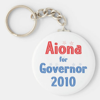 Duke Aiona for Governor 2010 Star Design Keychain