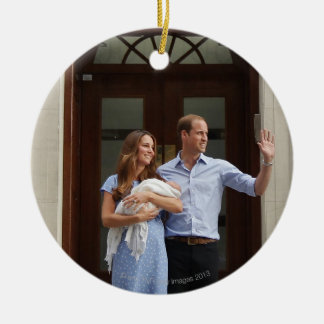 Duke & Duchess Of Cambridge at Lindo Wing 2 Ceramic Ornament