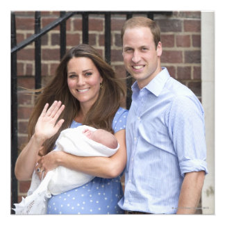 Duke & Duchess Of Cambridge at Lindo Wing Personalized Announcement