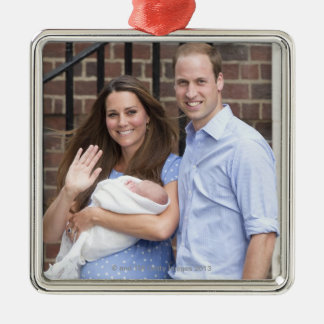 Duke & Duchess Of Cambridge at Lindo Wing Metal Ornament